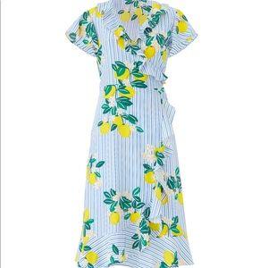 Incredibly Flattering Lemon Blossom Wrap Dress